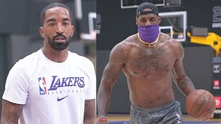 JR Smith Lakers Debut With LeBron James In Practice For NBA Season Return!
