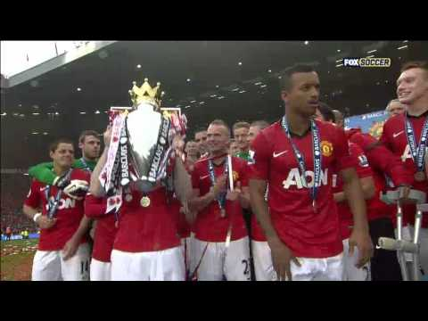 Manchester United celebrates 13th Premier League title on May 12,2013