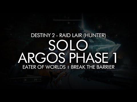 Destiny 2 - Solo Argos Phase 1 (Hunter - Eater of Worlds Raid Lair)