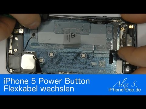 Iphone 5 Standby, Power Button reparieren, tauschen Flexkabel Anleitung Deutsch