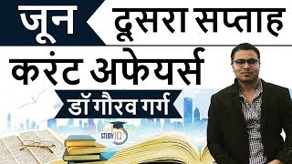 June 2018 current affairs in Hindi Second week set 2 - IBPS/SSC CGL/CHSL/LDC/Police/KVS/UGC/CLAT