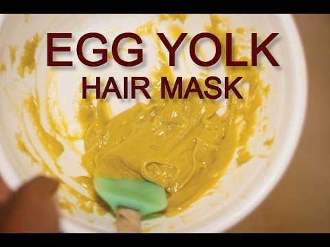 Homemade hair mask (egg yolk protein)