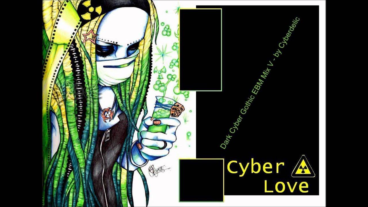Dark cyber goth mix
