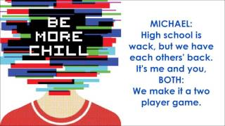 Two Player Game - BE MORE CHILL (LYRICS)