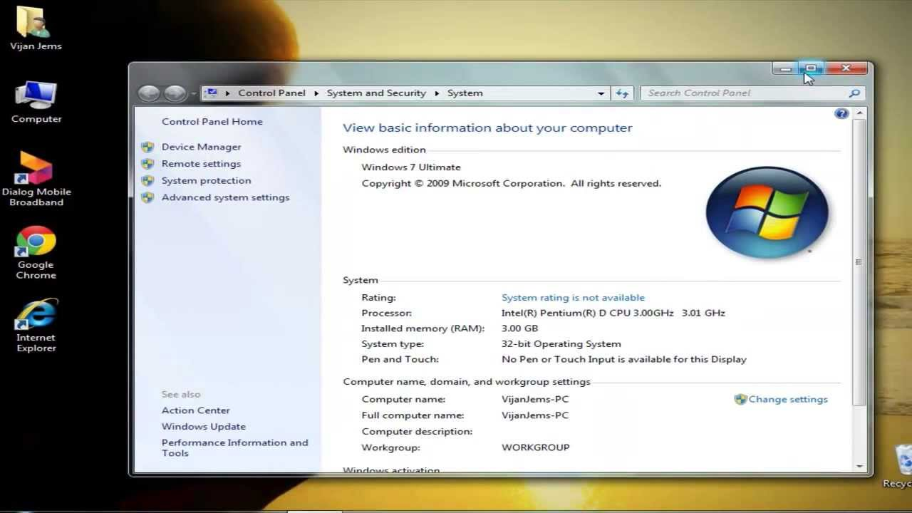 How To Windows 7 System Rating Youtube