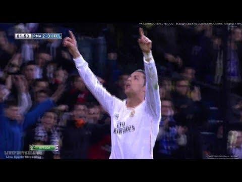 Cristiano Ronaldo dedicates his Goal to Eusébio - Real Madrid vs Celta Vigo 2:0 HD
