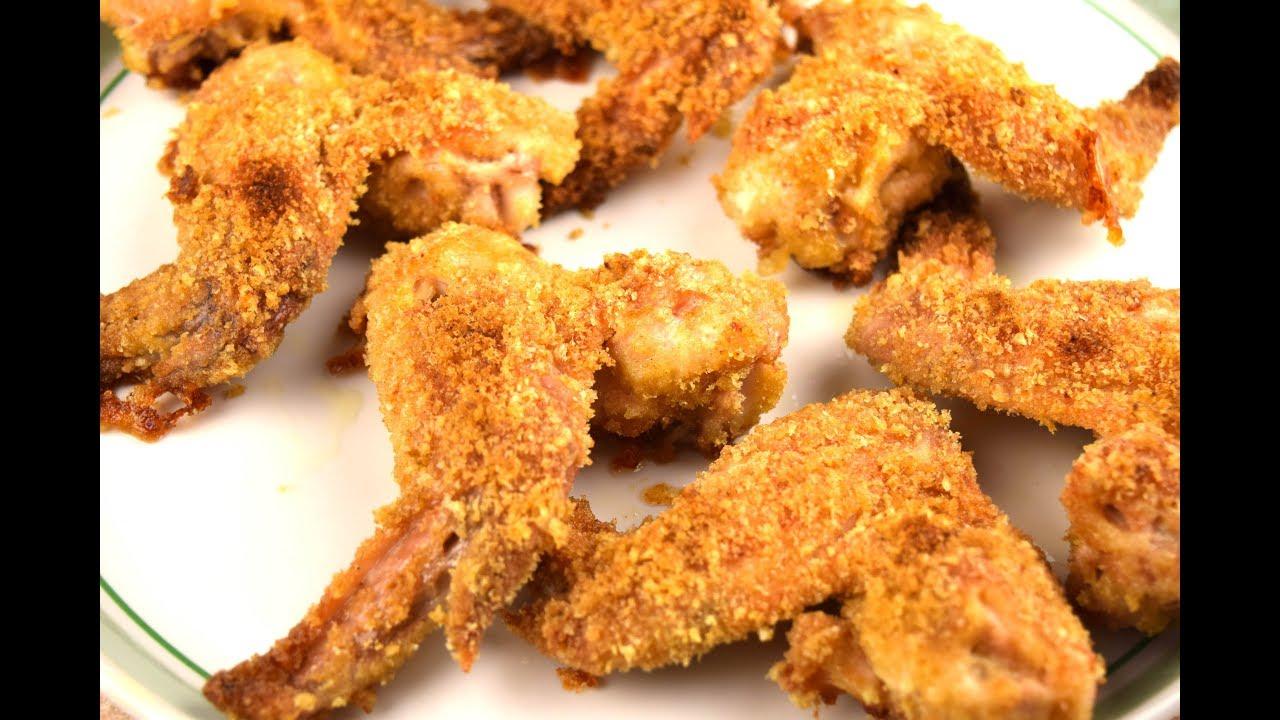 Крылышки в панировочных сухарях в духовке рецепт