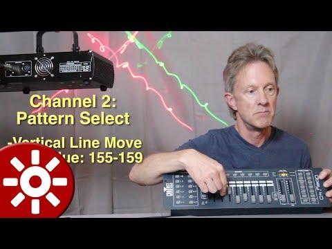 How to Program a Cheap DMX Laser (simple lesson)