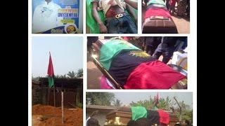 Burial Ceremony of ‪A #BIAFRAN amongst Biafrans killed by NigeriaN Soldiers.