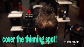 Hair Styling tips using Thick Fiber - Must watch video 2019