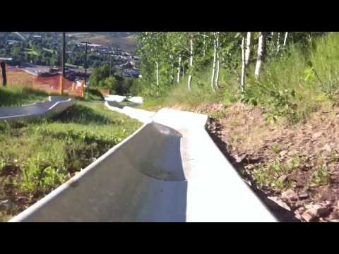 Alpine Slide, Park City, Utah - First Person View