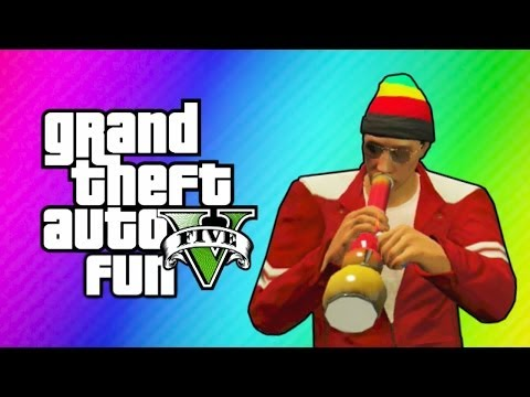 GTA 5 Online Funny Moments - Carlos, Tripping out, Under Map Glitch, Balancing Helicopters! klip izle