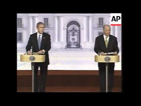REPLAY Bush and Lagos news conference