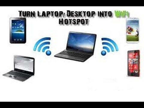 Turn your windows 7 laptop into wifi hotspot with Microsoft virtual wifi miniport adaptor