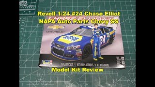 Revell 1/24 #24 Chase Elliot NAPA Auto Parts Chevy SS Model Kit Review 85-4222