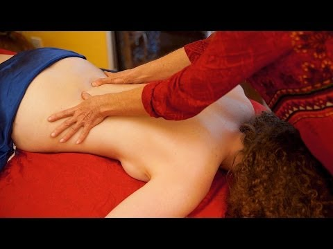 Back Massage Swedish Technique For Women, How To Massage, Asmr Massage Athena Jezik video