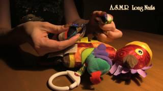 ASMR no talking triggers scratching & tapping horse Lamaze with my Long Nails