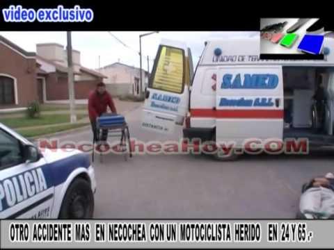 OTRO  ACCIDENTE  MAS   EN  NECOCHEA  CON UN  MOTOCICLISTA  HERIDO    EN  24 Y 65