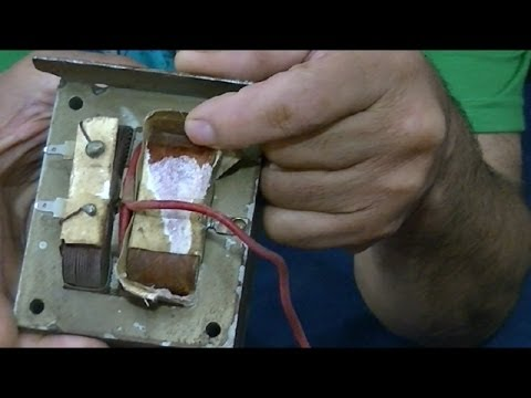 Como reciclar transformador de Microondas (para otros usos)--Microwave transformer as recycling