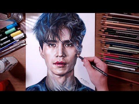 Dokkaebi : Grim Reaper(Lee Dong-wook) - Colored pencil drawing | drawholic