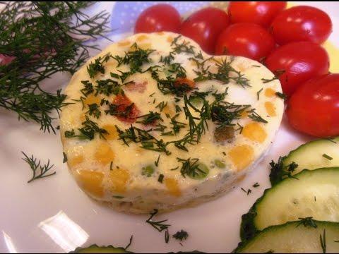 Омлет в мультиварке с овощами рецепт