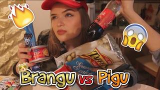 BRANGU vs PIGU | Maisto iššūkis 😍🍔🍷