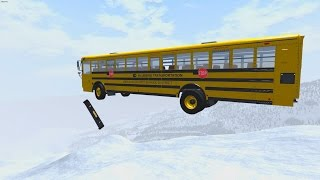 High Speed Crash Compilation 40 - Down Hill Skiing - BeamNG.Drive Car Accident
