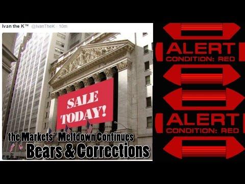 Red Alert! Global Markets enter Bear Market as USA markets continue to Slide deep down.
