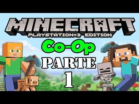 Lets Play: Minecraft PS3 Co Op Parte 1