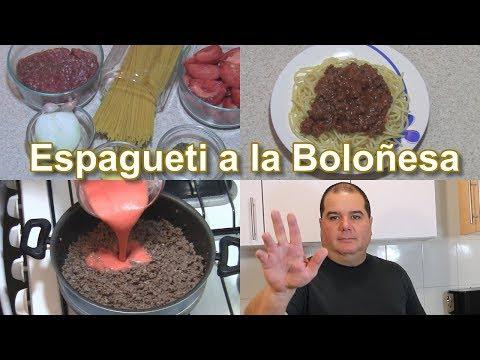 Espagueti a la Boloñesa, Como hacer Espagueti a la Boloñesa, Receta Spaghetti a la Boloñesa