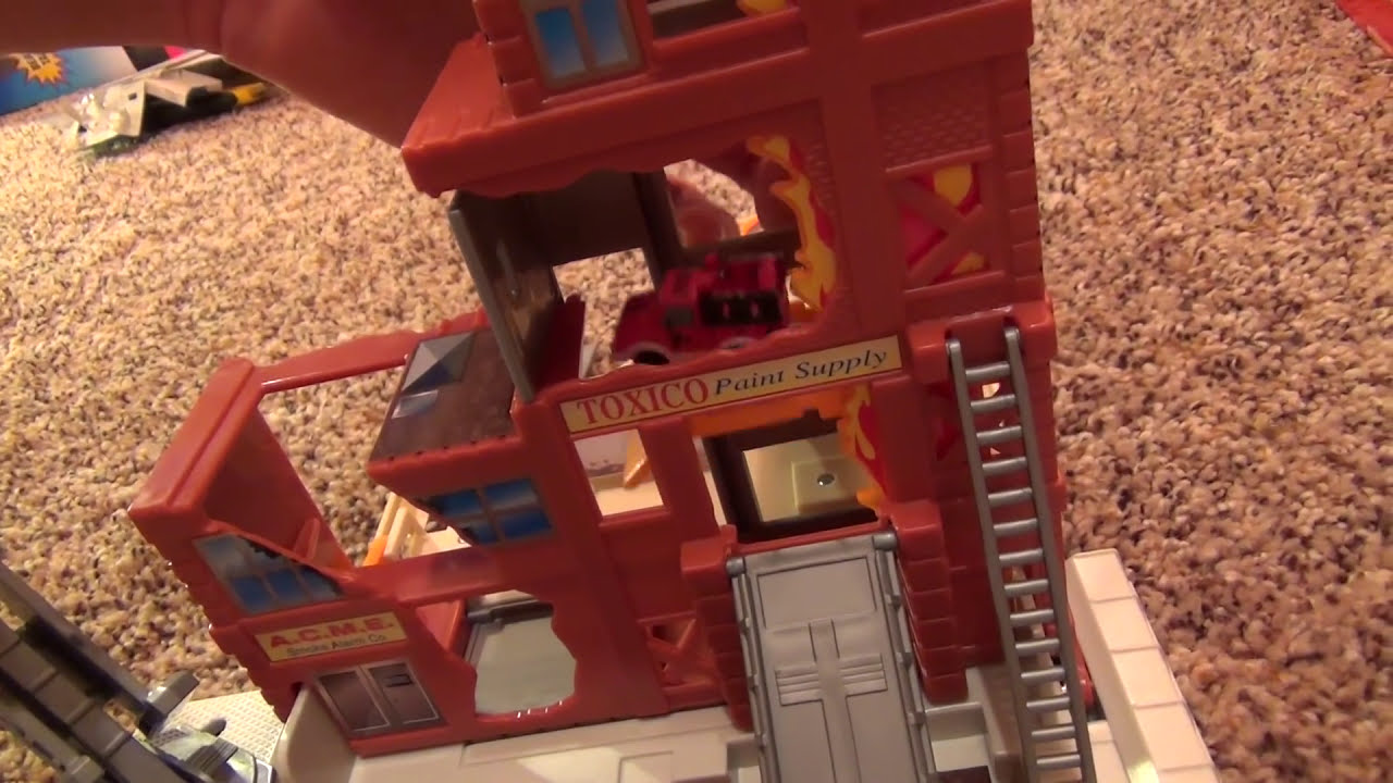 Micro Machines Fire Engine Playset Micro Machines Fire Escape