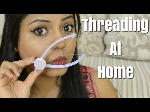 DIY Threading at home HINDI   Slique Hair Threading Kit   Ria Rajendran