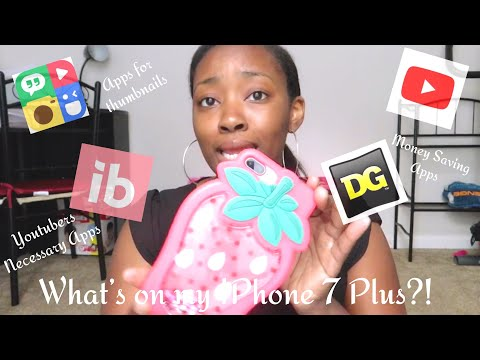 What's on my IPhone 7 Plus 2018 | Apps for Thumbnails | Money Saving Apps | Working Mom of 2