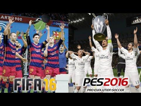 FIFA 16 vs PES 2016 UEFA CHAMPIONS LEAGUE FINAL Comparison