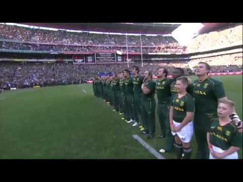 Anthems South Africa vs New Zealand + haka