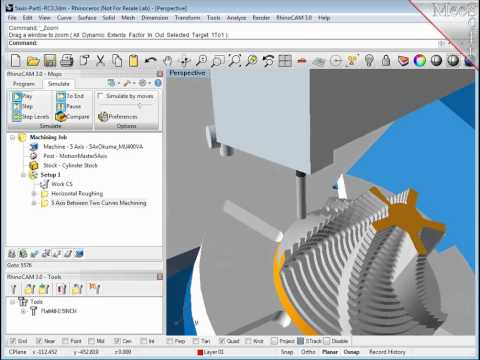 5axis Simultaneous with machine tool simulation