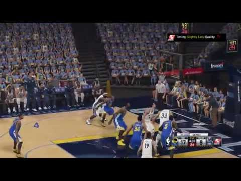 NBA Playoffs 2015 - Golden State Warriors vs Memphis Grizzlies - 2nd Qrt - NBA 2K15 PS4 - HD