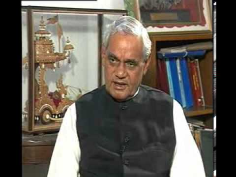 Rajeev Shukla Interviews Atal Bihari Vajpayee Part1 Of 3 video