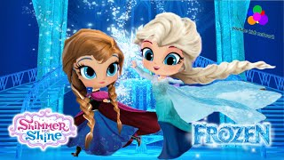 Shimmer and Shine Color Episode With Frozen Elsa and Anna