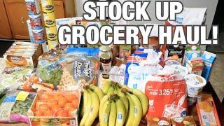 TWO WEEK GROCERY HAUL & MEAL PLAN FOR A LARGE FAMILY! | STOCK UP TRIP