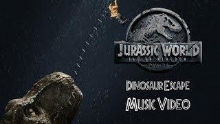 Dinosaur Escape! | Jurassic World Fallen Kingdom Music Video (Song By Mattel Action)