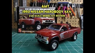 AMT 1993 Nissan Hardbody 4x4 Pickup 1/20 Scale Model Kit Build Review AMT1031