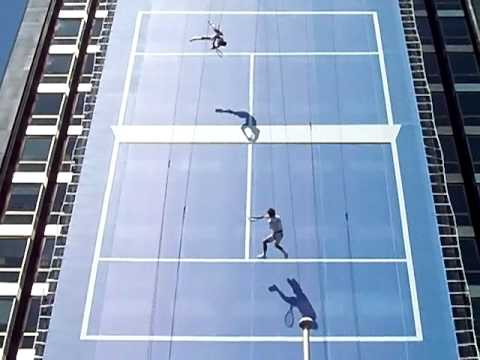 Exhibición Tenis Vertical (Presentación Mutua Madrid Open 2011)