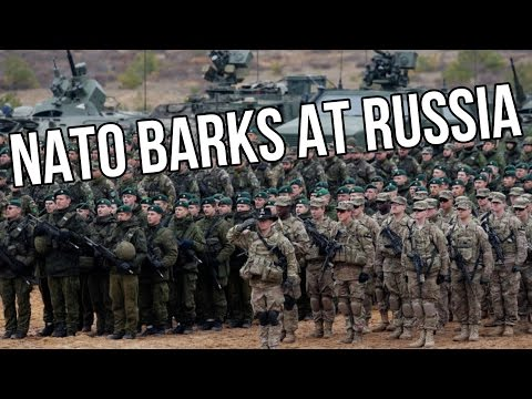 NATO BARKS AT RUSSIA THREATENS TO BITE
