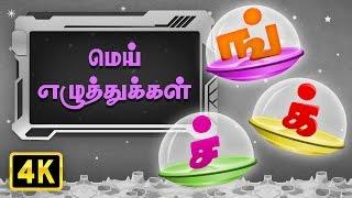மெய் எழுத்துக்கள் (Mei Ezhuthukkal) | Ilakana Padalgal | Tamil Rhymes For Kids