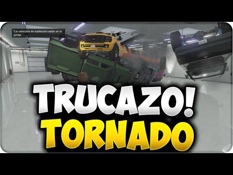 GTA 5 ONLINE 1.17 - NUEVO TRUCAZO TORNADO EN EL GARAJE - FUNNY GLITCH GTA V ONLINE 1.17