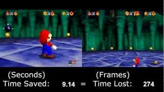 """[HD] SM64 """"0 Stars"""" TAS - World Record vs. Original - Section by Section Comparison (2012/2007)"""