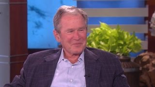 George W. Bush talks to Ellen about poncho battle