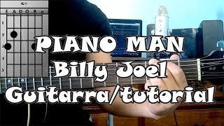 Como Tocar PIANO MAN Billy Joel Guitarra Acustica Tutorial