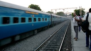 12724 New Delhi - Hyderabad Telangana Express powered by Lallaguda WAP-7